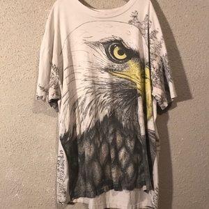 Vintage American bald eagle all over print shirt